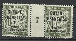 Guyane Millésime Taxe N° 10 Année 1927  Neuf