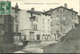 Monistrol Sur Loire Place De La Fontaine - Monistrol Sur Loire