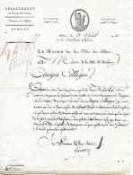 21 Floréal An 11 - BLOIS (41) - L.S. Louis-Michel LEFEBVRE-17° Demi-Brigade Légère Destiné A Augmenter La Garnison - Historische Documenten