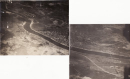 2 Photo Aériennes 1916 DUNABURG (Daugavpils) (A154, Ww1, Wk 1) - Lettonie