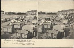 L' ESPAGNE , SAINT SEBASTIEN , Vue Générale De La Concha , Stéréoscopique - Guipúzcoa (San Sebastián)