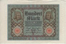 GERMANY 100 MARK 1920 P-69b XF/AU 8 DIGIT S/N [ DER069b ] - 100 Mark