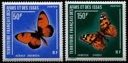 Afars Et Issas, 1976, Butterflies, MNH, Michel 161-162