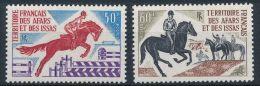 Afars Et Issas, 1970, Horse Riding, Equestrian, MNH, Michel 47-48