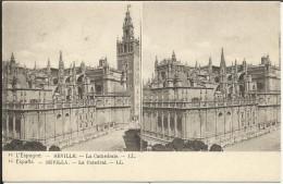 L' ESPAGNE , SEVILLE , La Cathédrale , Stéréoscopique - Spanje