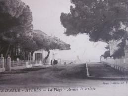 1915 CPA HYERES  VAR 83 LA PLAGE AVENUE DE LA GARE - Hyeres