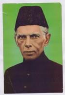 PAKISTAN POSTCARD - Quaid Azam Muhammad Ali Jinnah, Founder Of Pakistan - Historical Famous People
