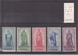 Belgique Série N° 751 à 755 Timbres Neufs Avec Charnière, 5 Valeurs - Unused Stamps