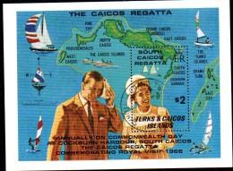 BF156 -  TURKS CAICOS , BF Visita Reale Usato . - Turks E Caicos