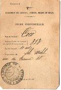 VP5669 - Mairie De SAINT ETIENNE - Carte - Fiche Pour Classement Des Chevaux,Juments,Mulets & Mules - Cartes