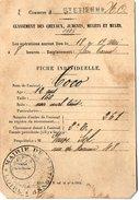 VP5670 - Mairie De SAINT ETIENNE - Carte - Fiche Pour Classement Des Chevaux,Juments,Mulets & Mules - Cartes