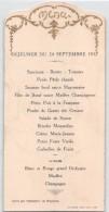 """04924 """"MENU - DEJEUNER DU 24 SEPTEMBRE 1932-SERVI PAR FROCHOT"""" SCRITTO. ORIGINALE DECORI E SCRITTA IN RILIEVO E ORO - Menu"""