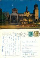 Piazza Del Duomo, Trento, TN Trentino, Italy Postcard Posted 1977 Stamp - Trento