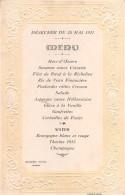 """04925 """"MENU - DEJEUNER DU 28 MAI 1921 - MODERN' HOTEL"""" SCRITTO. ORIGINALE DECORI E SCRITTA IN RILIEVO - Menu"""