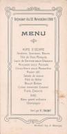 "04926 ""MENU - DEJEUNER DU 22 NOVEMBRE 1908 - SERVI PAR M. FROCHOT"" SCRITTO. ORIGINALE DECORI - Menu"