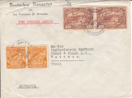 Brief Vom Dt. Konsulat An Papierfabrik Bunzl & Biachin Wattens, - 1933 - El Salvador