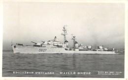 ESCORTEUR D´ESCADRE MAILLE BREZE PHOTOGRAPHE TOULON MARIUS BAR MARINE NAVIRE DE GUERRE PAQUEBOT BOAT TRANSPORT BATEAU - Guerre