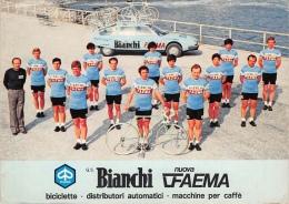 PUB - BICICLETTE BIANCHI FAEMA  - VESPA Estafette Officielle Tour 79  - Dos Vierge  - 2 Scans - Publicité