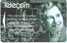 @+ Nouvelle Zelande : Maud Basham 1993 - Women's Suffrage - Nouvelle-Zélande