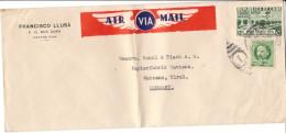 Luftpost Francisco Llusá, Havana Nach Wattens ( Papierfabrik Bunzl Biach ) - Luftpost