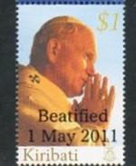 2011 - KIRIBATI - BEATIFICAZIONE PAPA GIOVANNI PAOLO II / POPE JOHN PAUL II BEATIFIED . MNH - Kiribati (1979-...)