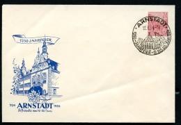 DDR PU12 D2/001 Privat-Umschlag 1250-JAHR-FEIER Rathaus ARNSTADT  Sost. 1954  NGK 15,00 € - Privatumschläge - Gebraucht