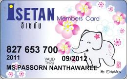 Thailand Giftcard Elefant Mit Blumen Isetan - Jungle