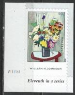 USA. Scott # 4653 MNH With Pl #. William H. Johnson Painter 2012 - Ongebruikt