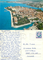 Aerial View, Zadar, Croatia Postcard Posted 1988 Stamp - Kroatien