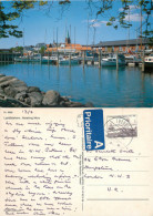 Lystbadehavn, Nykobing Mors, Denmark Postcard Posted 1994 Stamp - Denmark