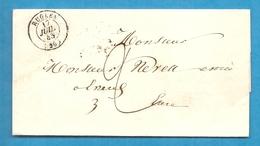 Eure - Rugles Pour Evreux (Eure). LSC De 1845 - Postmark Collection (Covers)