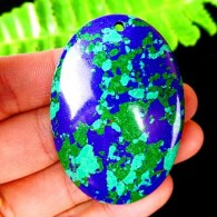 Turchese - Pendente A Forma Ovale Verde E Blu - Turchese