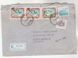1988 REGISTERED Trebinje YUGOSKLAVIA COVER  Stamps SWALLOW BIRD, AIRCRAFT OVER MOUNTAIN, SHIP  Birds Aviation - 1945-1992 Socialist Federal Republic Of Yugoslavia