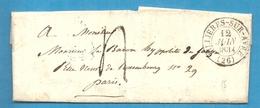 Eure - Lyons La Foret Pour Le Baron Hyppolitte De Janzé (capitaine De Cavalerie). 1834 - Marcophilie (Lettres)