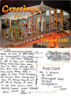 Greetings From, Nashville, Tennessee, United States US Postcard Posted 2009 ATM Meter - Nashville