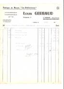 LOUIS GERBAUD - BISCUITS LE DELICIEUX - L ABSIE - LETTRE CHAPLAIS PONTCHATEAU - 1900 – 1949