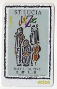 SAINTE LUCIE REF MVCARDS STL-237A CABLE & WIRELESS 10$ The Future Sounds Good - Sainte Lucie