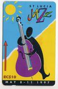 SAINTE LUCIE REF MVCARDS STL-147D CABLE & WIRELESS 10$ FESTIVAL DE JAZZ 1997 - Sainte Lucie