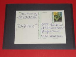 Glimmersteinbrech Blume Flower 1997 Österreich Austria Ganzsache Postal Stationery Pflanze Plant - Entiers Postaux