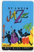 SAINTE LUCIE REF MVCARDS STL-147F CABLE & WIRELESS 40$ FESTIVAL DE JAZZ 1997 - Sainte Lucie