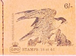 GREAT  BRITIAN  BK 116  BOOKLET  **  UN-OPENED   BIRD OF  PREY - Booklets