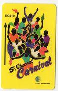 SAINT VINCENT Et GRENADINES REF MVCARDS STV-304A CABLE & WIRELESS 10$ CARNIVAL Série 2/4 - St. Vincent & The Grenadines