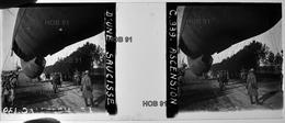 Photographie - Plaque De Verre - Guerre 14/18 - Ascension D'une Saucisse (Ballon D'observation) (B 513-1, Lot 1) - Glasplaten