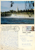 Mormon Temple, Idaho Falls, Idaho, United States US Postcard Posted 1989 Stamp - Idaho Falls