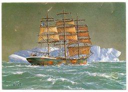 Voiliers Français--GENERAL FAIDHERBE--Trois Mâts Carré--illustrateur Lislet,cpm N°434 éd Palette Bretonne - Sailing Vessels