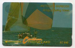 ANTIGUA & BARBUDA REF MVCARDS ANT-7C CABLE & WIRELESS 40$ 7CATC Sailing Week 1 - Antigua Et Barbuda