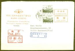 1987 , CHINA , BEIJING - EBERSBACH , SOBRE DE RADIO BEIJING , CORREO AÉREO - 1949 - ... People's Republic