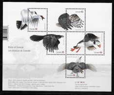 CANADA 2016  BIRDS Of CANADA   Sheelet Of 5 Stamps