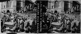 Photographie - Plaque De Verre - Guerre 14/18 - ABLAIN St NAZAIRE (62) - Enterrement Deux Soldats (B 513-1, Lot 1) - Plaques De Verre