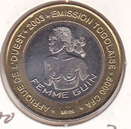 Togo 6000 6.000 CFA 2003 Bimetallic UNC - Togo